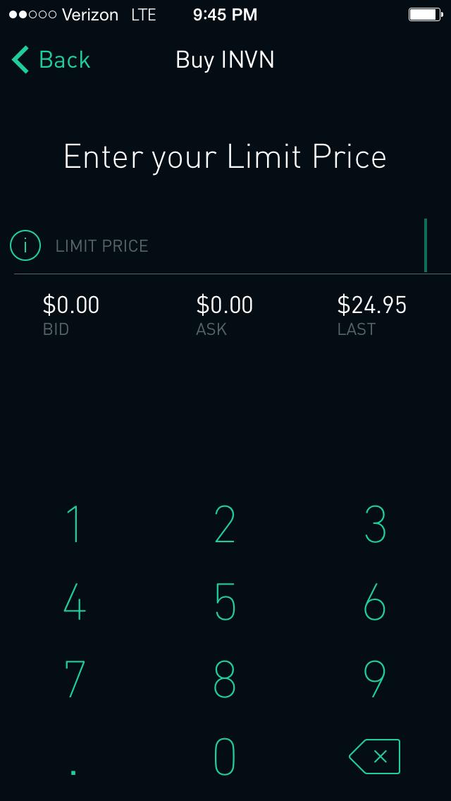 Robinhood App Limit Orders