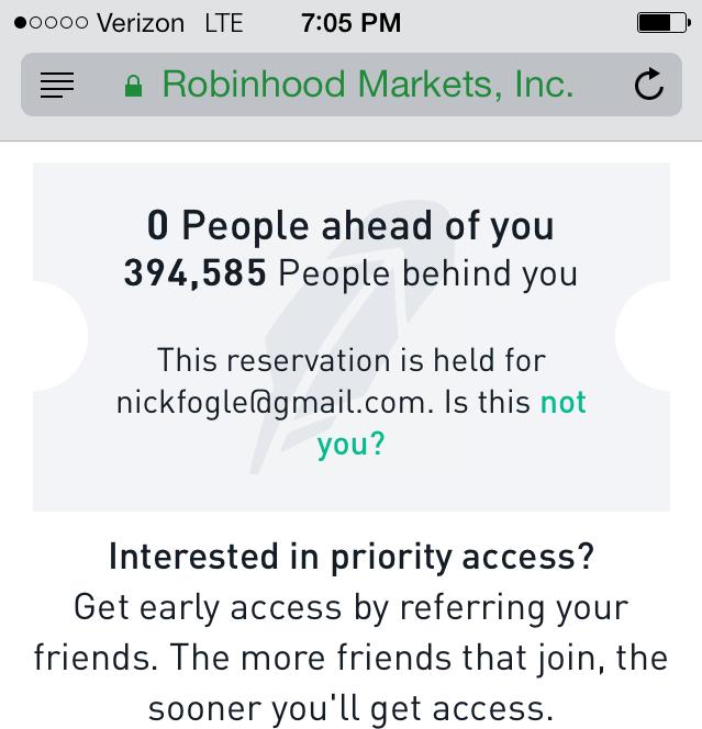 Robinhood App Beta Invite