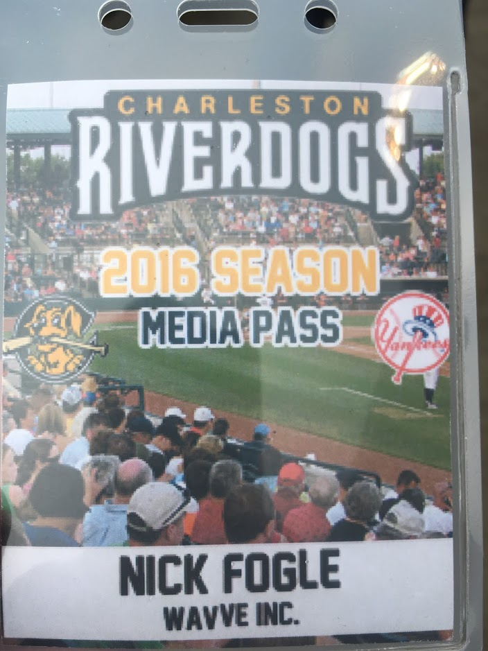 Wavve 2016 Season Charleston Riverdogs Pass
