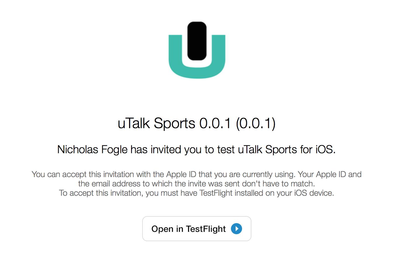 uTalk Sports iOS